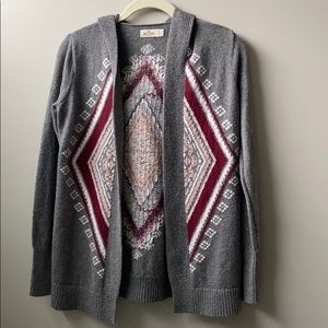 HOLLISTER Open front cardigan w/hood, Size Small